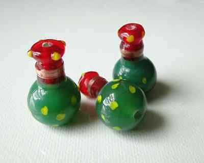 Lampwork, Glass, Vase, Beads, Vintage, Jewelry, Crafting, Supplies, 10 Beads
