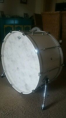 "Pearl 28"" marching drum converted to a kick drum"
