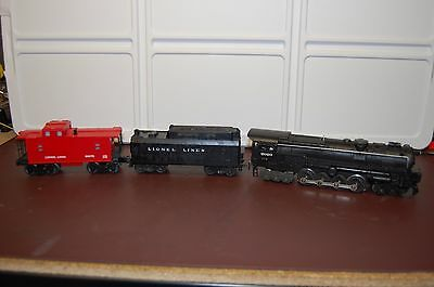 Lionel No.2020 6-8-6 Steam Locomotive & Whistle Tender & Caboose - Fully Tested