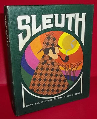 Sleuth - Mystery Card Game - 3M Gamette Clean & Complete 1971 Ed.