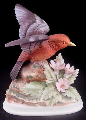 Andrea By Sadek Porcelain Bird Figurine: Tanager by Andrea