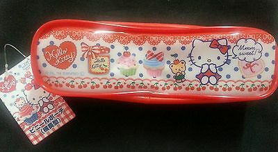(A91) SANRIO Hello Kitty lovely pencil case / cosmetic bag (red)
