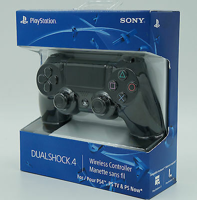 Official DualShock 4 Wireless Controller Jet Black SONY Playstation 4 PS4 NIB