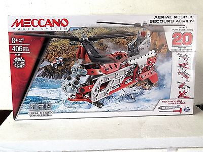 MECCANO Maker System AERIAL RESUE make 20 Models 406 parts #16211 New in box