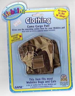 Webkinz Camo Cargo Pant for Dogs and Cats - New In Package