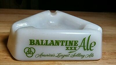 Ballantine XXX Ale Milk Glass Ashtray Unused Old NOS