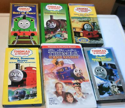 Thomas & Friends (6) Childrens Fun & Learning Vhs Videos, #185