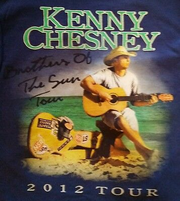Kenny Chesney Tee Brothers of the Sun Tour 2012 - T-Shirt - Size Small Free Ship