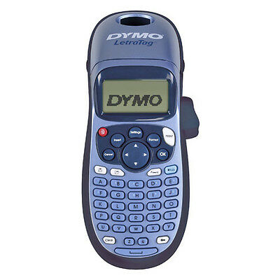 Brand New DYMO LetraTag Portable Personal Label Maker Labller LT-100H Blue