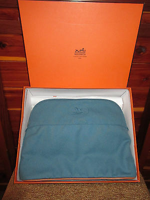 Hermes Makeup Bag Baby Bag Blue W/ Hermes Rocking Horse only one on ebay! NWT
