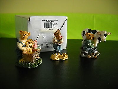 **boyds**village Accessory**farmer Dell And Bessie**style #19550-1**