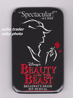 Disney's Beauty and the Beast Broadway Musical Pinback Disney Promo Pin Button