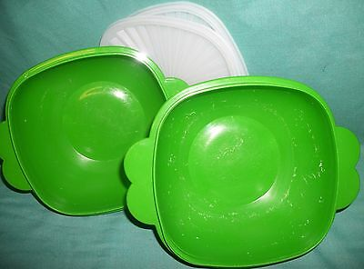 Tupperware 6-1/2-CUP BOWL x2 green