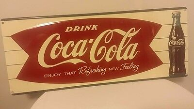 1960s Vintage Coca Cola Sign - Enjoy That New Refreshing Feeling