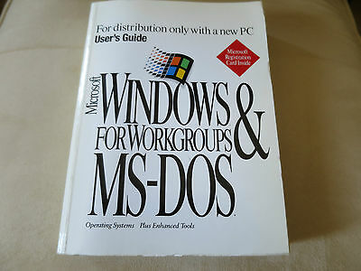 Microsoft Windows for Workgroups & MS-Dos Manuals and User's Guide Books