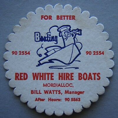Red White Hire Boats Mordialloc Bill Watts 905863 For Better Boating Coaster