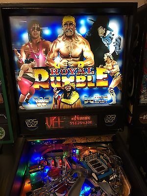 WWF Royal Rumble Pinball Machine By Data East With LED's