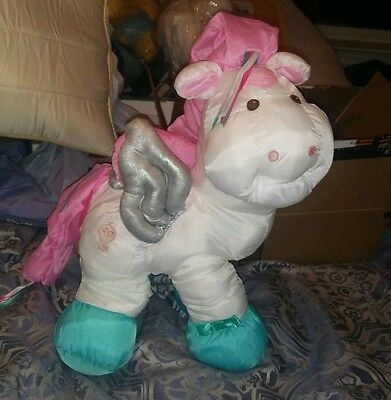 1987 Rare Vintage Fisher Price Enchanted Puffalump PEGASUS HORSE Winged Pony EUC