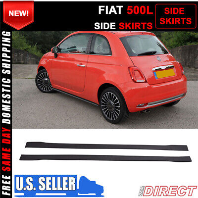 For 14+ Fiat 500L Side Skirts Extensions Splitters - PP