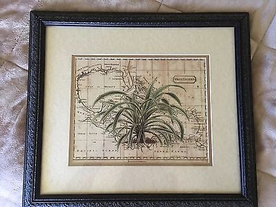 West Indies Continental Maps Zachary Alexander Antique Framed Map 1/4