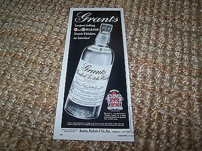 c1953 vintage magazine print ad Grant's Blended Scotch Whisky ~5.25 X13 in.
