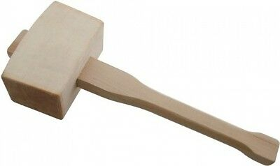 Beech Wood Mallet Woodworking Chisels Handled Hammer Angled Striking Faces 115mm