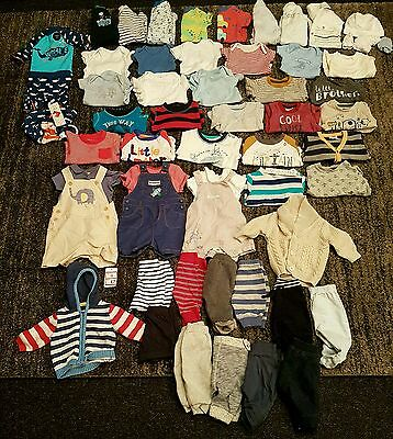 Tiny baby/ first size/ newborn boys clothes bundle 60 items