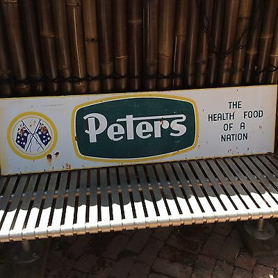 Rare Peter's Ice Cream Sign With Flags