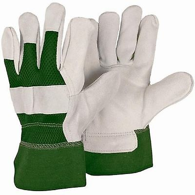 Briers Reinforced Green Rigger Protective Gardening Work Gloves Large B0380