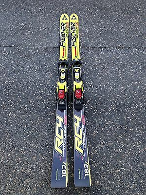 snow skis and bindings - Fischer GS race training 183cm skis