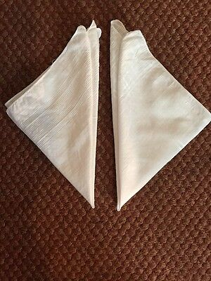 X2 True Vintage White Cotton Handkerchiefs