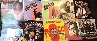 Instant Record Collection Job Lot of 40 x Rock & Roll  Vinyl records