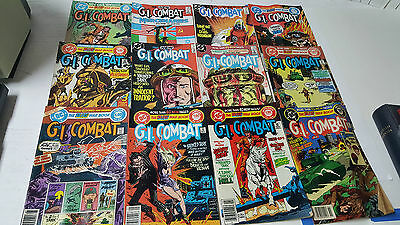 Large Lot of 12 G.I. Combat Comic Books - Good Condition