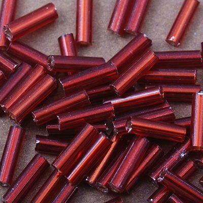 900pcs red 6mm L  czech glass TUBE beads spacer long craft lot embroidery DIY