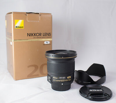 Nikon 20mm f1.8G ED lens. Boxed.