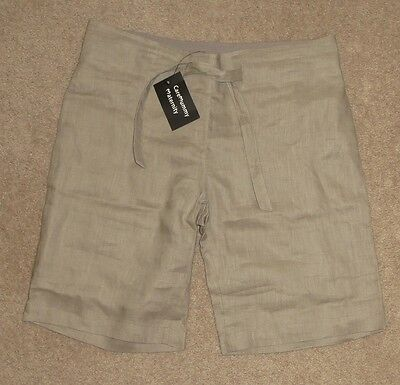 Womens / Ladies Linen Grey Comfortable Maternity Short