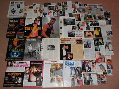 70- JEAN CLAUDE VAN DAMME Magazine Clippings
