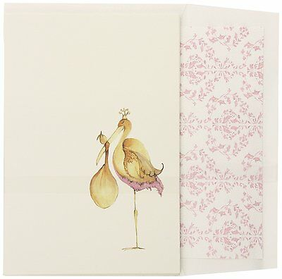 Girls Birth Announcement Baby Shower Stationary DIY Invitations Stork Pink Cards