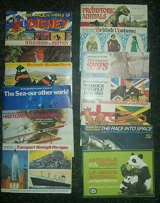 18 Brooke Bond/pg Tips Tea Card Albums