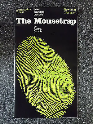 1973 Programme For The Mousetrap By Agatha Christie At The Ambassadors Theatre