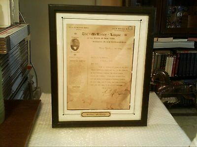 """Mckinley For President """"mckinley League"""" Thank You Letter For $5 Donation - 1896"""
