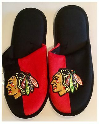 Chicago Blackhawks NHL Logo Slippers