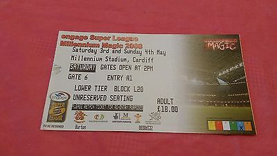 Millennium Magic 2008 Used Rugby League Ticket