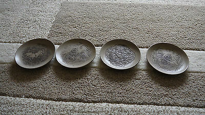 Poole Pottery Decorative Plates (Small), Horse, Mice, Fox And Squirrel On Each