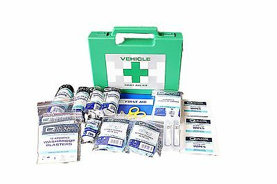 Vehicle/travel First Aid Kit in hard plastic box ideal for lorry, truck and car