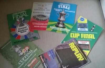 Manchester United Fa Cup Final Special - 6 Programmes In Total