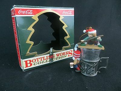"1995 Coca Cola ""fountain Glass Follies"" Christmas Ornament - North Pole Bottling"