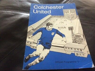 Colchester United v Birmingham League Cup 2nd Round September 9th 1970