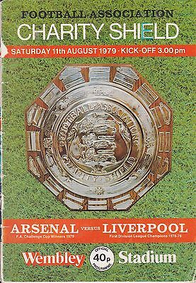 1979 Charity Shield Programme (Arsenal v Liverpool) and Ticket Stub