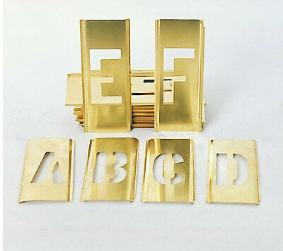 """1"""" New Brass Letter Number (45pcs) Stencils Military"""